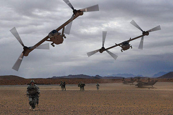 The V-280 Valor helicopter has double the speed of a conventional VTL Helicopter.