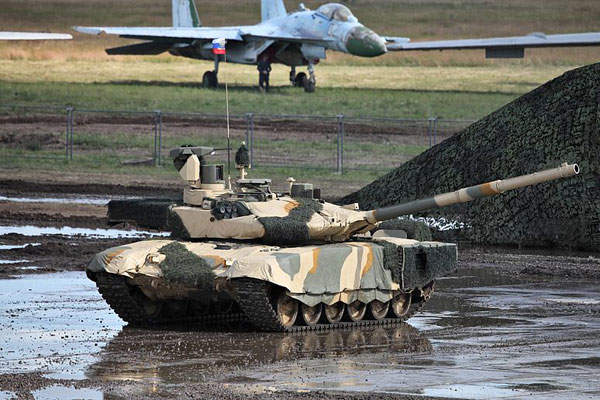 The T-90MS main battle tank can ford a depth of 1.8m without preparation. Image courtesy of Vitaly V. Kuzmin.