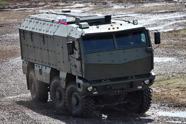 The Kamaz-63968 armoured vehicle can accommodate two crew and up to 16 troops. Image courtesy of Vitaly V. Kuzmin.