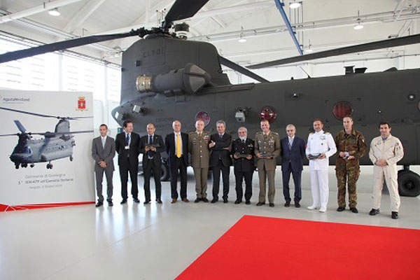 The Italian Army received two ICH-47F Chinooks in October 2014.