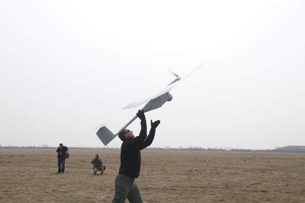 The Fly Eye UAV has a maximum take-off weight of 11kg. Image: courtesy of WB Electronics SA.
