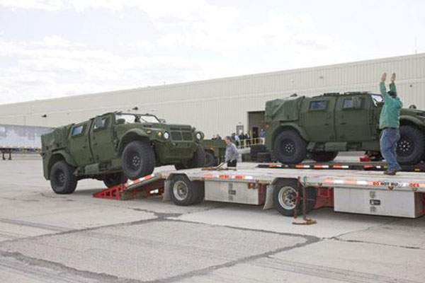 US Army and Marine Corps receive JLTV vehicles and four trailers in all payload categories.