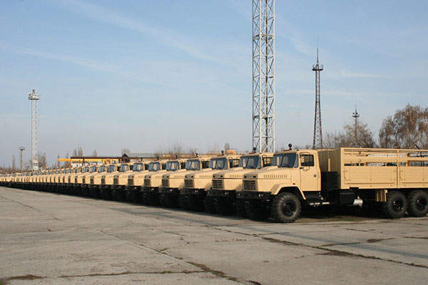 The KrAZ-6322 military truck has a maximum speed of 80km/h. Image: courtesy of PJSC
