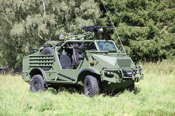 The vehicle comes with ballistic protection and a mine-protected underside. Image: courtesy of Krauss-Maffei Wegmann (KMW).