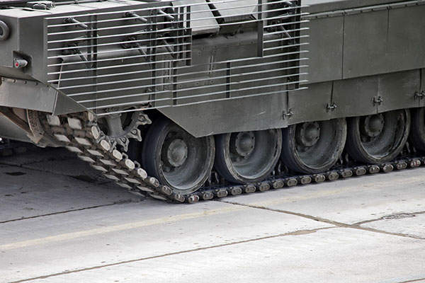A close view of slat armour fitted on the T-14 Armata MBT. Image courtesy of Vitaly V. Kuzmin.