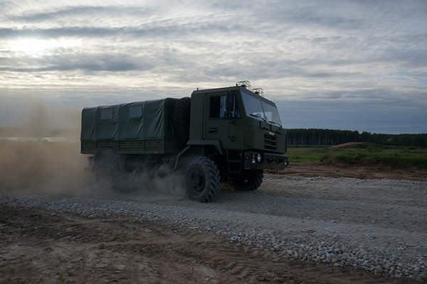 The MZKT-500200 transportation vehicle has a maximum speed of 95km/h. Image courtesy of MWTP.