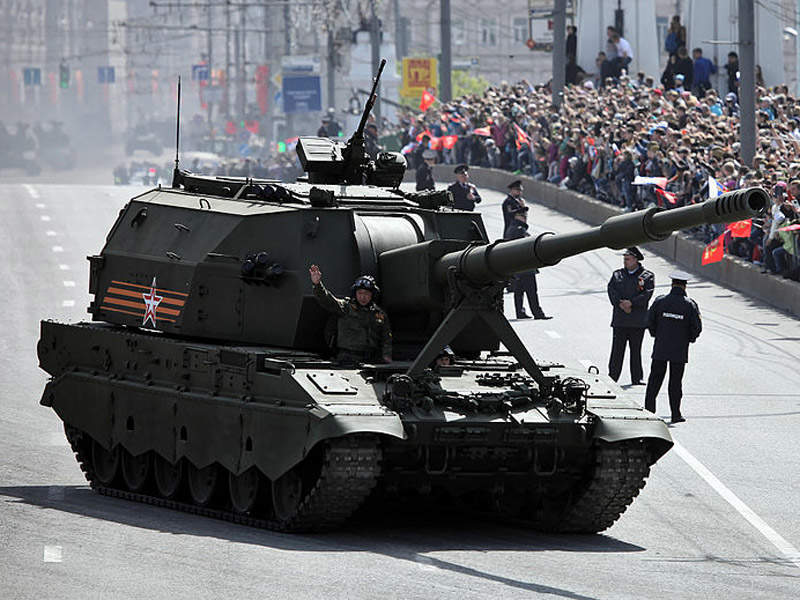 The Koalitsiya-SV took part in the Victory Day military parade in Moscow in May 2015. Image courtesy of Vitaly V. Kuzmin.