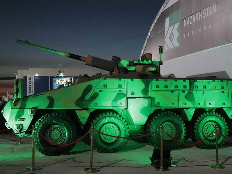 The Mbombe 8 armoured vehicle is motorised with a 450hp turbocharged diesel engine. Image courtesy of JSC