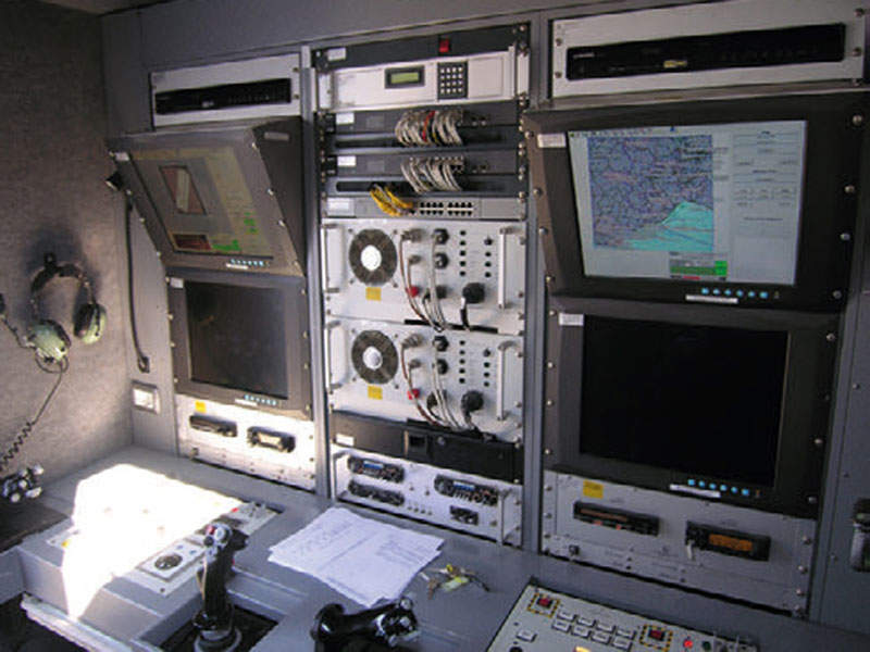 The ground control station is common to Falco and Falco EVO UAVs. Image courtesy of Leonardo – Finmeccanica – Società per azioni.