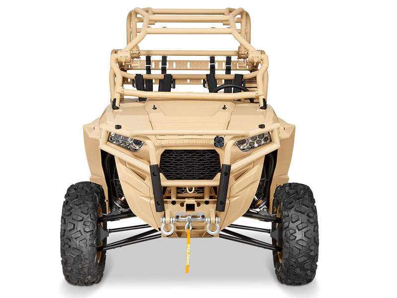 MRZR-D4 is equipped with a three-cylinder turbo diesel engine. Image courtesy of Polaris Industries Inc.