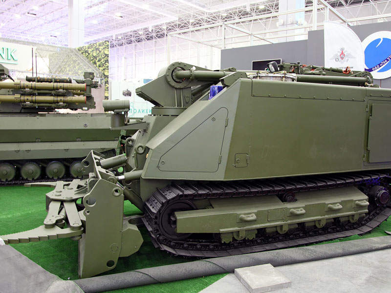 The Uran-14 unmanned ground vehicles took part in the Army-2016 exhibition. Image courtesy of Vitaly V. Kuzmin.