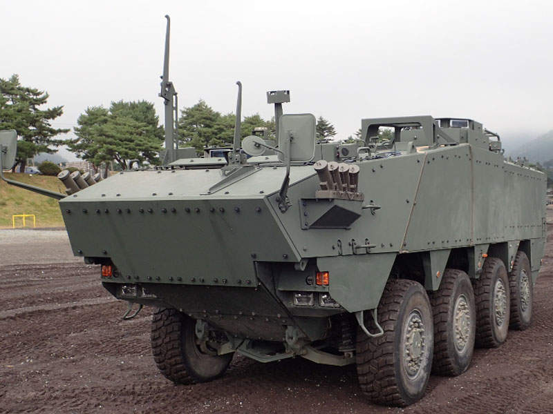 The top speed of the new Japanese APC is 100km/h. Image courtesy of Acquisition, Technology & Logistics Agency (ATLA).