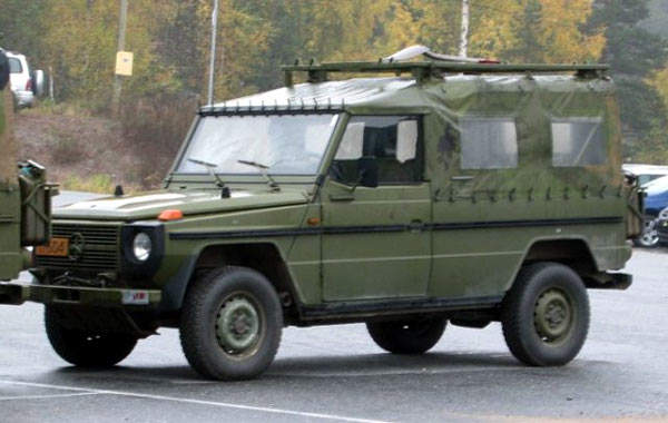 The 270 CDI version of the G-Wagen used by the Norwegian military.