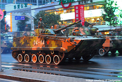A ZBD-97 IFV participating in the 60th anniversary military parade of China.