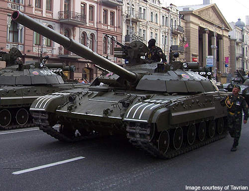 The BM Bulat during a parade in Ukraine.