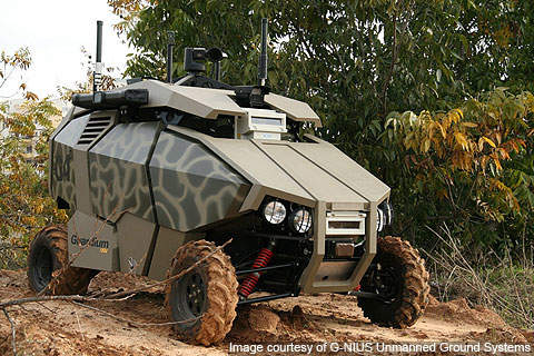 AvantGuard is a mission variant of the Guardium UGV from G-NIUS.