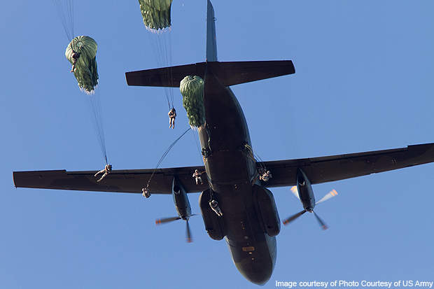 The 82nd Airborne Division paratroopers.