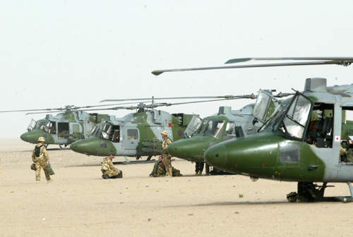 Several serving Lynx helicopters with the UK Army