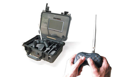 Portable control unit for military robot