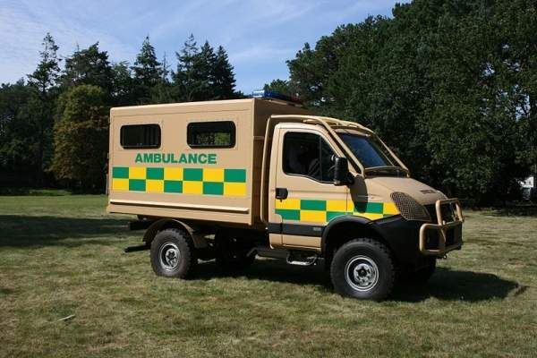 Ambulance module of the Cameleon. Image courtesy of Jez Hermer.