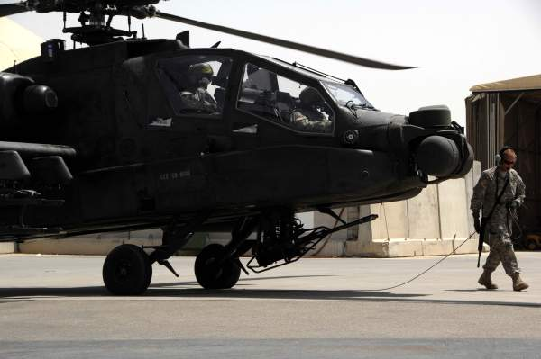 The AH-64D Longbow is fitted with the Longbow millimetre wave fire control radar and the Longbow Hellfire missile.
