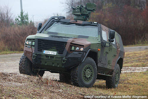 The AMPV has the turning circle of less than 15m.