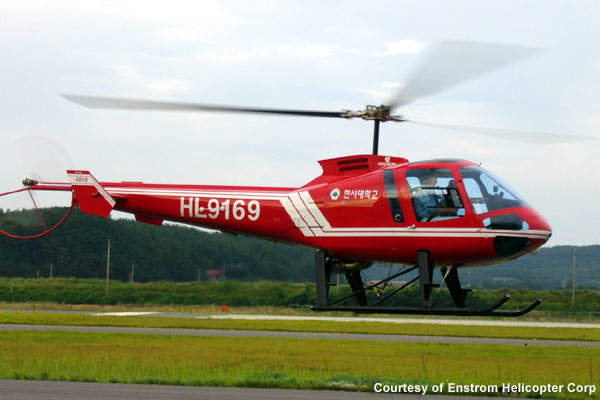 The Enstrom 480B is used for cargo transportation.