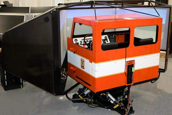 an airport driving simulator with dual controls