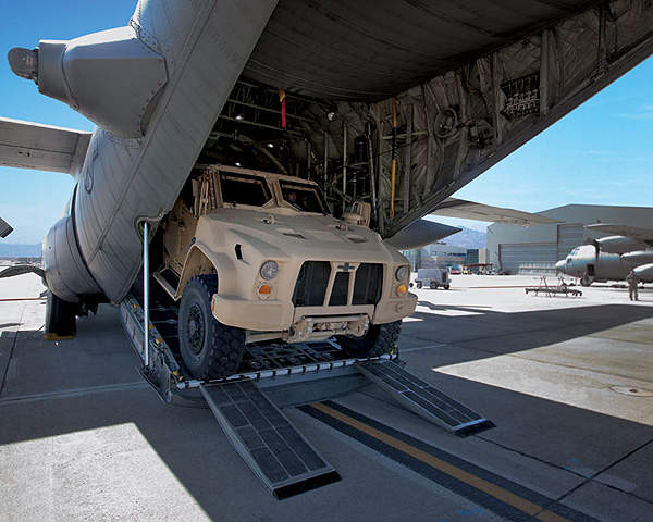 The L-ATV can be transported by a wide range of military transport aircraft.