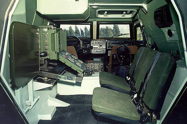 Akrep can accommodate two crew members and six troops.