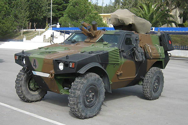 A Panhard VBL (light armoured vehicle) of the Hellenic Army.