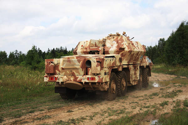 The DANA-M1 CZ vehicle can reach an off-road speed of 25km/h. Image courtesy of Ministry of Defence of the Czech Republic.