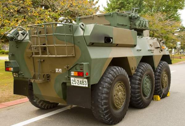 A rear view of the JGSDF Type 87 reconnaissance and patrol vehicle. Image courtesy of Max Smith.