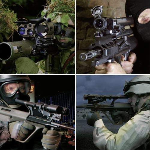 Reliable gun sighting and aiming systems for the military