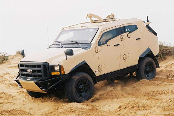 The Plasan Sand Cat armoured body built in Israel.