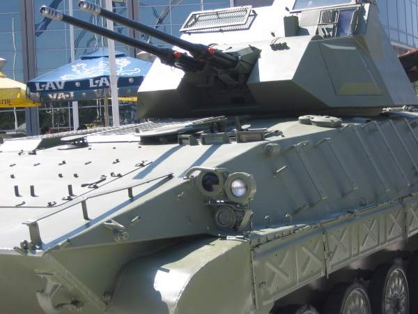 A close view of the anti-aircraft guns fitted on the M-80A Infantry Fighting Vehicle of the Serbian Armed Forces. Image courtesy of Srđan Popović.