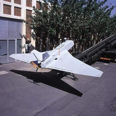 Sperwer Tactical UAV on Launch Ramp