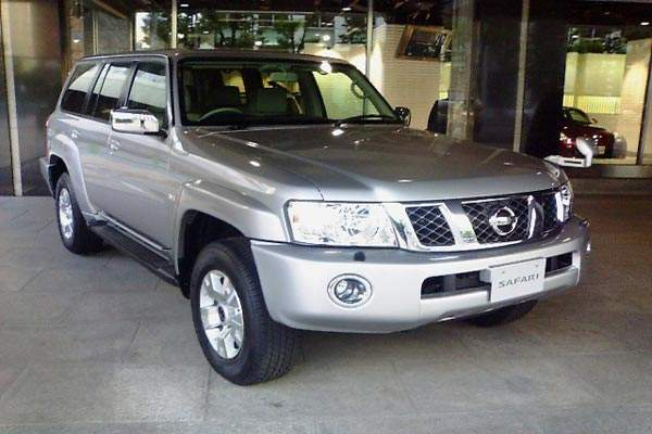 The Nissan Patrol is widely used in white livery by various agencies of the UN.