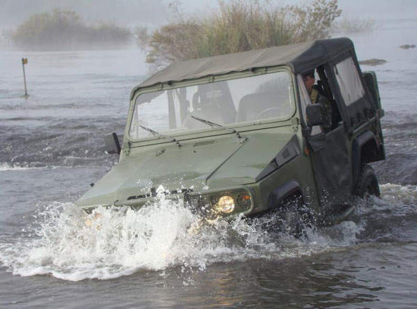 The Marruá military utility vehicle can ford in a water depth of 600mm.