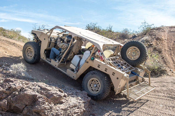 The DAGOR vehicle offers superior off-road mobility. Image courtesy of Polaris Industries, Inc.