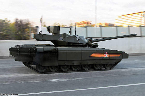 Side profile of the T-14 Armata main battle tank (MBT). Image courtesy of Vitaly V. Kuzmin.