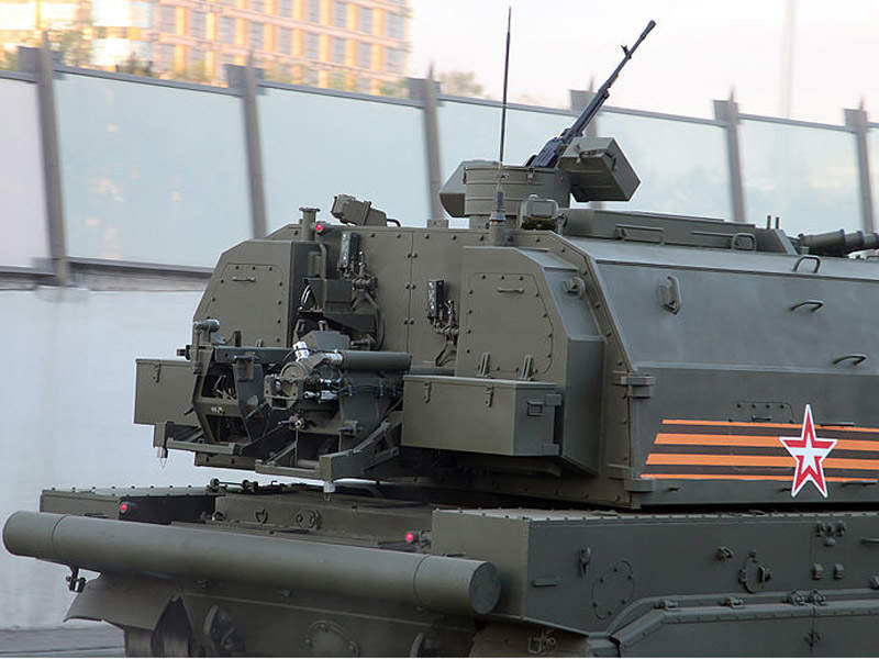 A 12.7mm machine gun is the secondary weapon for Koalitsiya-SV howitzer. Image courtesy of Vitaly V. Kuzmin.