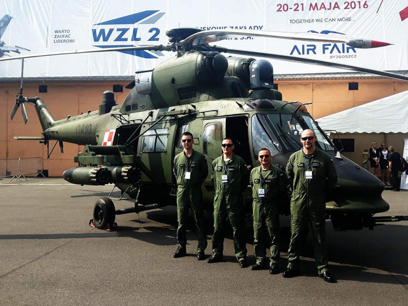 W-3PL Głuszec seen during the AIR FAIR 2016 International Exhibition. Image courtesy of AgustaWestland.