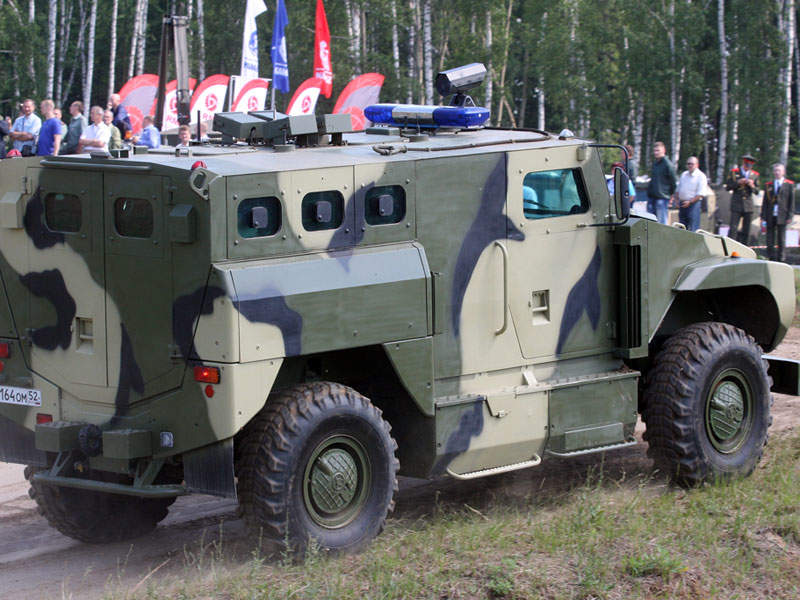 The SPM-3 armoured vehicle is equipped with Class 6a armour. Image courtesy of Vitaly V. Kuzmin.