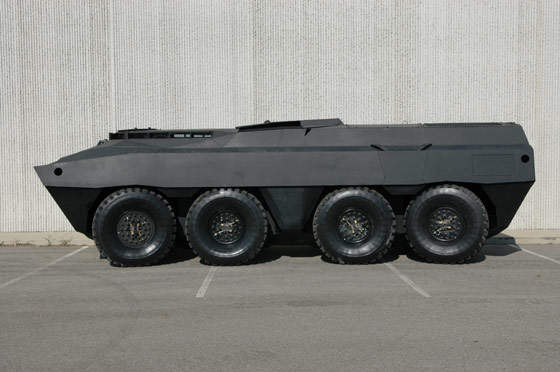 Side view of the GPV military vehicle