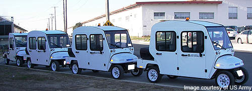 In March 2010, 20 new electric utility vehicles were delivered to the base for energy efficient short distance travel.