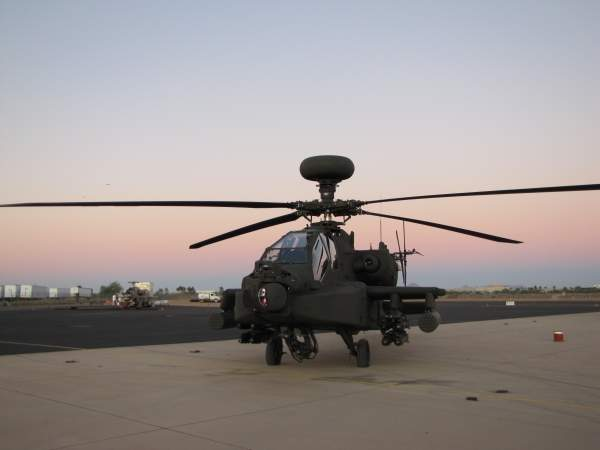 The Apache's 30mm automatic Boeing M230 chain gun fires 625 rounds a minute.