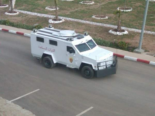 anti-riot BearCat vehicle
