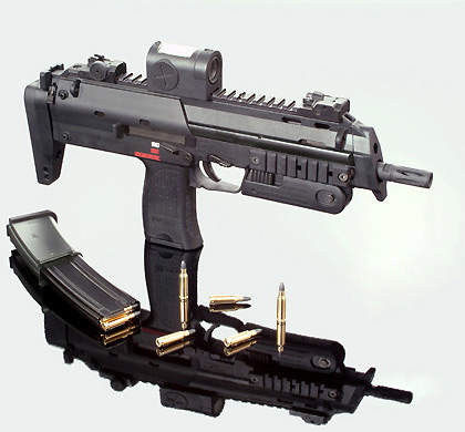 The MP7 personal defence weapon used by IdZ infantry systems