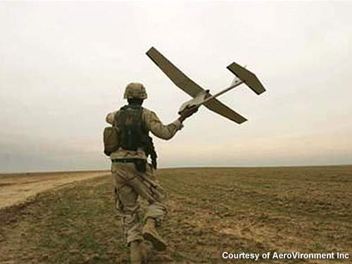 Launched by hand, Raven provides aerial observation, day or night, at line-of-sight ranges of 10km or more.